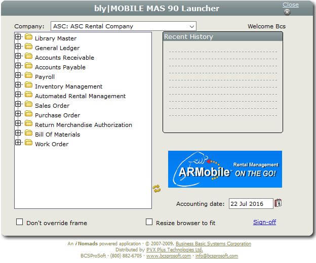 ARM Mobile Rental Software