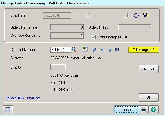 ARM Rental Software Change Order Pull Maintenance Changes